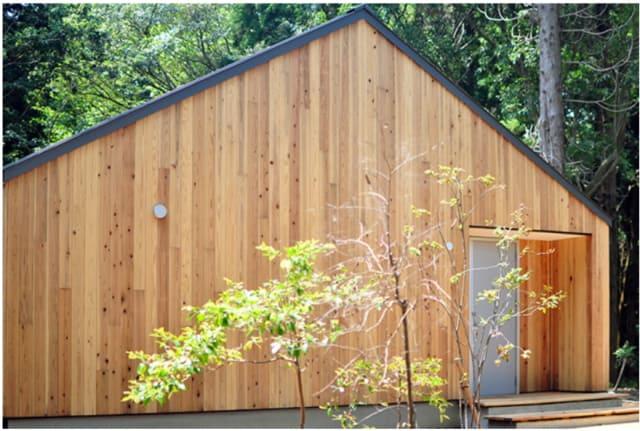 無印良品の家の木製サイディング